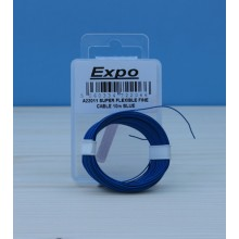 SUPER FLEXIBLE FINE CABLE 10m BLUE