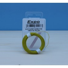 SUPER FLEXIBLE FINE CABLE 10m YELLOW
