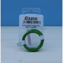 SUPER FLEXIBLE FINE CABLE 10m GREEN