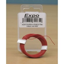 SUPER FLEXIBLE FINE CABLE 10m RED
