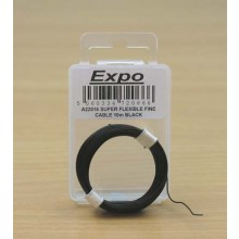 SUPER FLEXIBLE FINE CABLE 10m BLACK