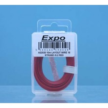 10m LAYOUT WIRE 18 STRAND /0.1 RED