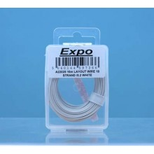 10m LAYOUT WIRE 18 STRAND /0.1 WHITE