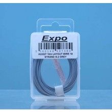 10m LAYOUT WIRE 18 STRAND /0.1 GREY