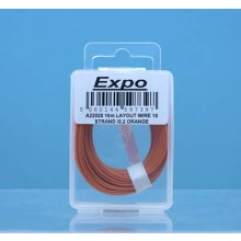 10m LAYOUT WIRE 18 STRAND /0.1 ORANGE