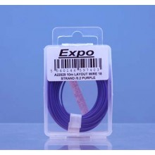 10m LAYOUT WIRE 18 STRAND /0.1 PURPLE