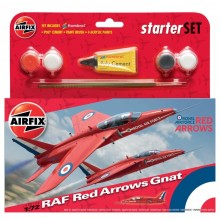 1/72 Airfix RAF Red Arrows Gnat Starter Set