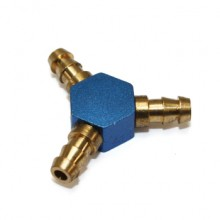 Metal Fuel Pipe Y-Joints (Blue)