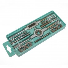 Tap & Die Set with Handles (12 Pcs)