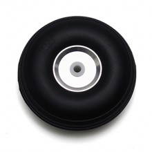 3in (76mm) Rubber (PU) Wheel with Aluminium Hub