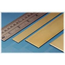 Brass Strip 25mm x 0.8mm 3 pieces