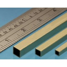 Square Brass Tube 3.96 x 3.96 x 0.353mm 2 Pieces