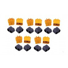 Amass XT60 H Connectors Male Female Power Plug with Sheath 5 Pairs