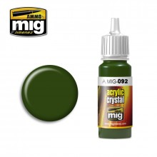 Ammo Mig Jimenez Acrylic 17ml Paint CRYSTAL GREEN