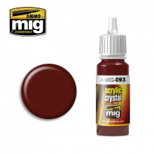 Ammo Mig Jimenez Acrylic 17ml Paint CRYSTAL RED