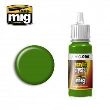 Ammo Mig Jimenez Acrylic 17ml Paint CRYSTAL GREEN PERISCOPE  (AND TAIL LIGHT ON)