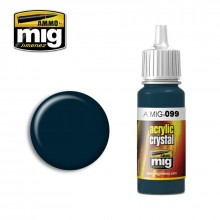 Ammo Mig Jimenez Acrylic 17ml Paint CRYSTAL BLACK BLUE (AND TAIL LIGHT OFF)