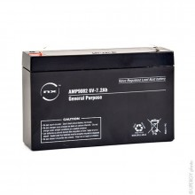 NX Sealed lead acid battery 6V 7.2Ah F4.8