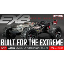 KRATON 1/8 4WD EXtreme Bash Roller Speed Black - Rolling Chassis