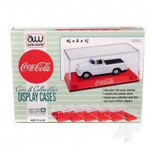 Acrylic Display Case (6 Pack) Coca-Cola Red Base