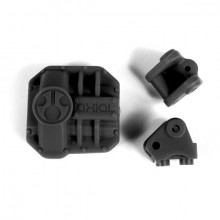 AXIAL AR44 DIFF COVER & LINK MOUNTS BLACK