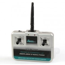 Transmitter Airplane Micro 3-Channel LP M3LPA-100C with 100mA Charger, Mode 2 (Stick 75/Tiger Moth 75)