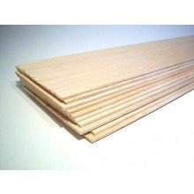 3/32 inch x 3 inch x 48 inch / 2.3mm x 75mm x 1220mm Balsa Wood Sheet