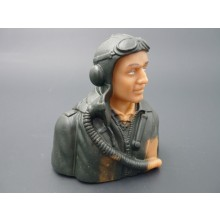 1/6 WWII German WWII prime paint pilots Painted Eyes with base coat need finishing