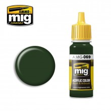 Ammo Mig Jimenez Acrylic 17ml Paint BLUE GREEN