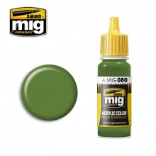 Ammo Mig Jimenez Acrylic 17ml Paint BRIGHT GREEN AMT-4
