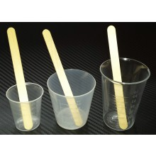 Bucks Composites 30ml mixing pots with spatulas