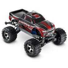 Stampede VXL Brushless 4WD TSM (TQi/No Batt or Chg) - Red
