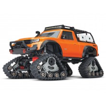 Orange TRX-4 with All-Terrain Traxx 1:10 4WD Electric Truck RTR (+ TQ XL-5 HV Titan 550)