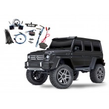 TRX-4 Crawler Mercedes G500 (Tqi) Black w/Light set