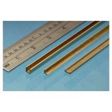 Brass C Channel 1m x 1.5m x 1mm 1 piece
