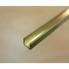 Brass U Channel 2.5m x 2.5m x 2.5mm 1 piece