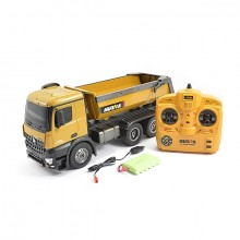 HUINA RC TIPPER/DUMP TRUCK - 10 FUNCTIONS WITH DIE CAST CAB - BUCKETS - WHEELS