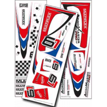 Multiplex Acromaster Pro Decal Set blue-red