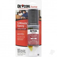 Devcon 5 Min Clear Epoxy 28g (1oz ) Syringe Pack - SPECIAL OFFER DUE TO DISCOLOURATION