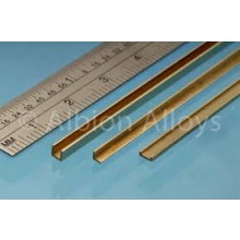 Brass U Channel 1.5m x 1.5m x 1.5mm 1 piece