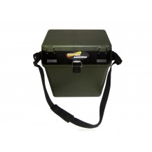 Green Carribox Compact Seat&plastic carry case-SKU 2507