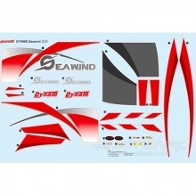 DYNAM SEAWIND RED DECAL SHEET