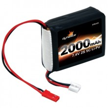 7.4volt 2000mah 2S 5C LiPo Receiver Pack for 1/8th cars