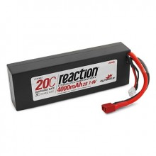 Reaction 7.4volt 4000mAh 2S 20C LiPo Hard Case with Deans Connector