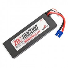Reaction 7.4volt 5000mAh 2S 20C Hardcase LiPo with EC3 Plug