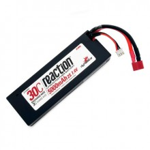 Reaction 7.4volt 5000mAh 2S 30C LiPo Hard Case with Deans Connector