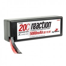 Reaction 11.1volt 5000mAh 3S 20C LiPo Hard Case with Deans Connector