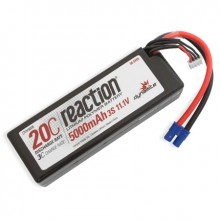 Reaction 11.1volt 5000mAh 3S 20C Hardcase LiPo with EC3 Plug