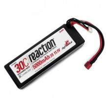 Reaction 11.1volt 5000mAh 3S 30C LiPo Hard Case with Deans Connector