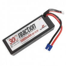 Reaction 11.1volt 5000mAh 3S 30C Hardcase LiPo with EC3 Plug